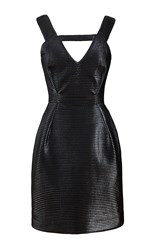 Kalmanovich Shiny Cutout Dress Black