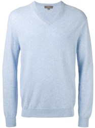 N.Peal V Neck Sweatshirt Blue