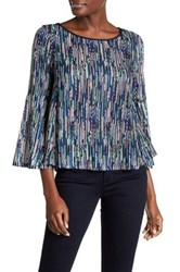 Ella Moss Camella Long Bell Sleeve Shirt Blue