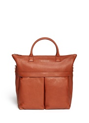 Want Les Essentiels 'O'hare Ii' Leather Shopper Tote Brown