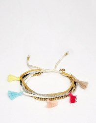 Ny Lon Nylon Multi Beaded Bracelet Multi