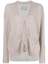 Zadig And Voltaire Cashmere Two Tone Cardigan Pink And Purple