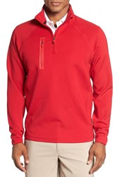 Bobby Jones Men's 'Crawford Xh20' Stretch Quarter Zip Golf Pullover Rio Red