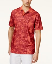 Tasso Elba Men's Big And Tall Palm Polo Only At Macy's Red Combo