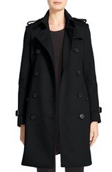 Burberry Women's Kensington Double Breasted Wool And Cashmere Trench Coat