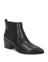 Tahari Ranch 2 Point Toe Leather Boots Black