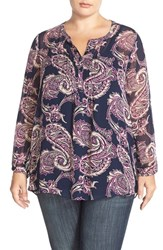 Plus Size Women's Lucky Brand Paisley Print High Low Tunic