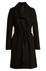 Halogen Belted Wool Coat Black