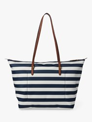 Ralph Lauren Chadwick Tote Bag Navy White