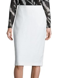 Max Mara Orata Pencil Skirt White