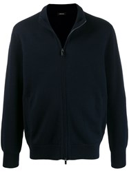 Z Zegna Long Sleeve Zip Front Sweatshirt 60