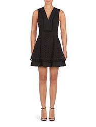 Derek Lam Solid Cotton Sleeveless Dress Black