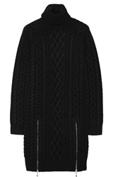 Alexander Wang Cable Knit Wool Mini Sweater Dress