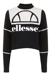 Ellesse Pu Crop Top By Black