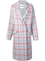 Essentiel Antwerp Checked Double Breasted Coat Blue
