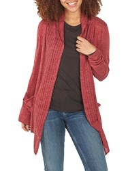 Fat Face Libby Organic Cotton Cardigan Deep Claret