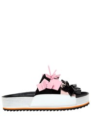 Kat Maconie 30Mm Square Charms Suede Sandals