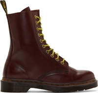 Dr. Martens Burgundy Leather 10 Eye Austins Boots