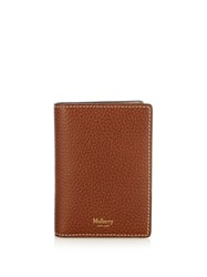 Mulberry Bi Fold Leather Wallet Brown