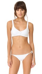 Tavik Marlowe Ribbed Bikini Top White Ribbed