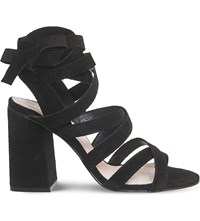 Office Ashley Suede Heeled Sandals Black Suede