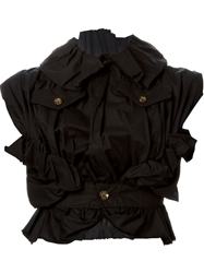 Comme Des Garcons Vintage Ruffled Sleeveless Jacket Black