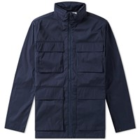 Norse Projects Skipper Double Dyed Jacket Blue