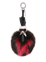 Fendi Karlito Fox Fur Two Tone Bag Charm