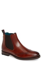 Ted Baker London Camheri Wingtip Chelsea Boot Tan Leather