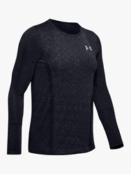 Under Armour Vanish Seamless Spacedye Long Sleeve Training Top Black Pitch Gray Metallic Silver