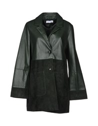 Caractere Overcoats Dark Green