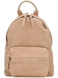 Officine Creative Mini Backpack Unisex Buffalo Leather One Size Nude Neutrals