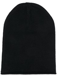 Allude Cashmere Knitted Hat Black