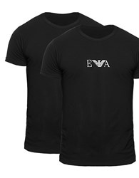 Emporio Armani 2 Pack T Shirt Black