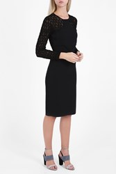 Roland Mouret Stannard Lace Dress Black