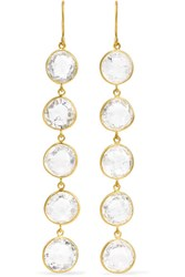 Pippa Small 18 Karat Gold Crystal Earrings One Size Gbp