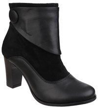 Hush Puppies Willow Slip On Ankle Boots Black
