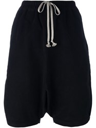 Rick Owens Drkshdw Drawstring Knee Length Shorts Black