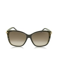 Roberto Cavalli Menkent 902S 50G Brown Snake Print Cat Eye Sunglasses W Goldtone Details