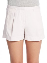 Atm Anthony Thomas Melillo Pleat Front Shorts Faded Rose