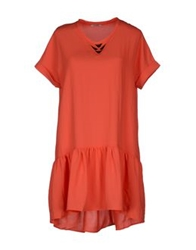 By Zoe Short Dresses Orange