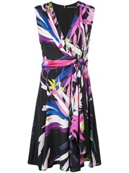 Josie Natori Printed Midi Dress Pink