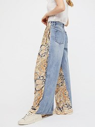 We The Free Coming And Going Printed Wide Leg Jeans By