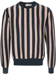 Kent And Curwen Striped Knitted Sweatshirt Wool S