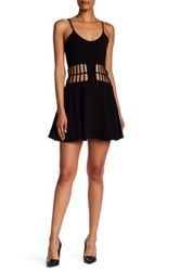 Dress The Population Heather Cutout Skater Black
