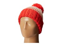 Kate Spade Chunky Knit Color Block Beanie Persimmon Grove