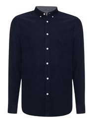 Linea Long Sleeve Cord Shirt Navy