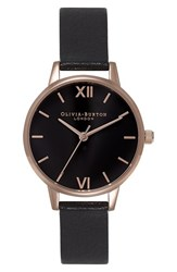Women's Olivia Burton 'Midi Dial' Leather Strap Watch 30Mm