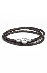 Pandora Design Women's Pandora Multistrand Leather Bracelet Black