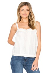 Current Elliott The Lace Tank White